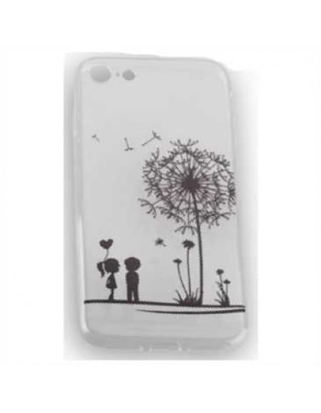 TPU Silicon Tasche mit Druck für Apple iPhone 7 - Design: Love