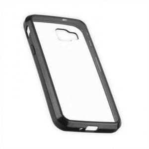 Protector Case Tasche für Samsung Galaxy Xcover 4 transparent mit schwarzen Rahmen