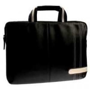 """Krusell Notebook Laptop Tasche Gaia - bis 14"""" (35,6cm), Geräte bis 340x240x40mm, Schwarz / Creme"""