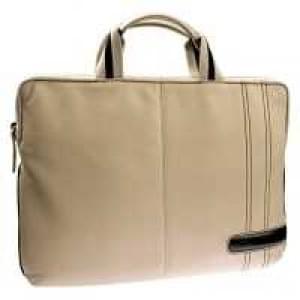 """Krusell Notebook Tasche Slim Gaia 71167 - bis 14"""" (35,6cm) - bis 340 x 240 x 40 mm - Creme"""