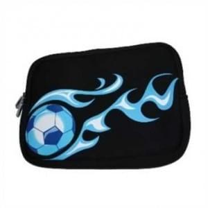 """XiRRiX Neopren Tablet-PC, Notebook Tasche - bis Größe 12,2"""" (30,7 cm ) - Design: Soccer - Schwarz"""