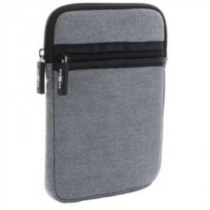 """XiRRiX Neopen eReader Tasche - mit Reißverschluss - extra Fach bis 6"""" (15,24cm) - Grau / Schwarz"""