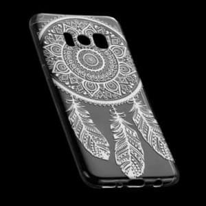 TPU Hülle Tasche mit Druck für Samsung Galaxy S8 - Design: Feder