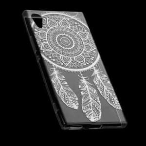 TPU Hülle Tasche mit Druck für Sony Xperia XA1 - Design: Feder