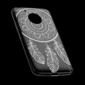 TPU Hülle Case Tasche mit Druck für Motorola Moto G5 - Design: Feder