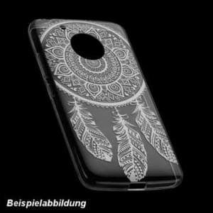 TPU Hülle Case Tasche mit Druck für Motorola Moto G5S - Design: Feder