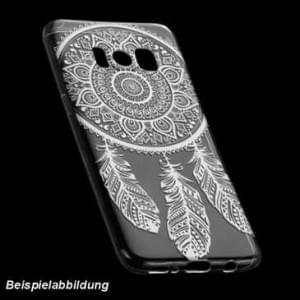 TPU Hülle Case Tasche mit Druck für Samsung Galaxy A8 Plus (2018) - Design: Feder