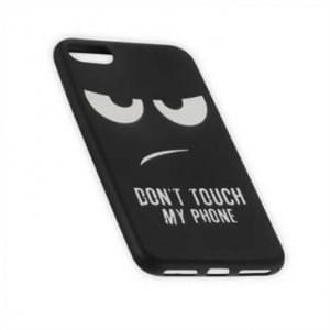 TPU Silikon Hülle Tasche für Apple iPhone 7 / 8 mit Druck Don t Touch My Phone - schwarz