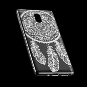 TPU Silikon Hülle Tasche mit Druck für Nokia 3 - Design: Feder
