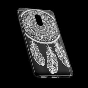 TPU Silikon Hülle Tasche mit Druck für Nokia 6 - Design: Feder