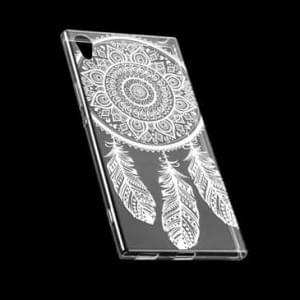 TPU Silikon Hülle Tasche mit Druck für Sony Xperia XA1 Ultra - Design: Feder