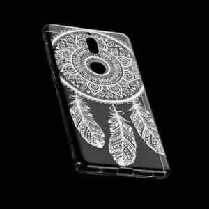 TPU Schutzhülle Case Tasche mit Druck für Nokia 7 - Design: Feder
