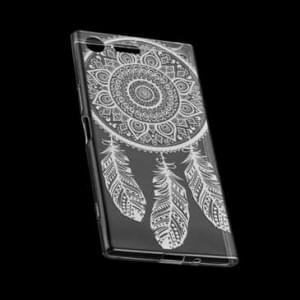 TPU Hülle Tasche mit Druck für Sony Xperia XZ1 Compact - Design: Feder