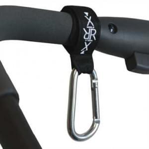 XiRRiX Universal Karabiner (2er Set) Haken für Kinderwagen, Einkaufswagen, Fahrrädern, Auto etc.