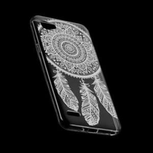 TPU Schutzhülle / Tasche mit Druck für LG V30 - Design: Feder