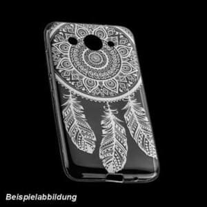 TPU Hülle Tasche für Huawei Y7 mit Druck - Design: Feder