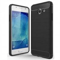 Hybrid TPU Silikon Case Handyhülle im Carbon Look für Samsung Galaxy J5 (2017)