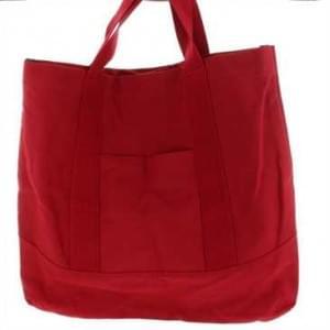 XiRRiX Canvas Umhängetasche, Classic Shopper, Shopper, Einkaufstasche, Schultertasche - Rot