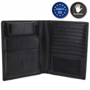 XiRRiX Brieftasche Kreditkartenetui Ausweisetui Kartenetui KFZ-Scheinetui - Schwarz