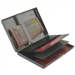 XiRRiX RFID Alumium Schutzhülle - für bis zu 3 Kreditkarten - mit Geldscheinklammer