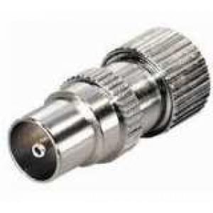 Koaxial Stecker 9,5 mm Metallausführung mit Schraubanschluss