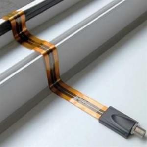 High Tech Fenster / Türen Durchführung SAT Kabel - Durchführung F-Buchse - extrem flach - Länge: 30cm
