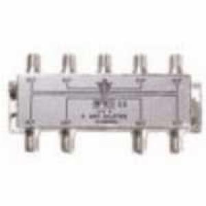 8-fach F-Verteiler 5-1000 MHz für BK-Anlagen, F-Kupplung auf 8 x F- Kupplung