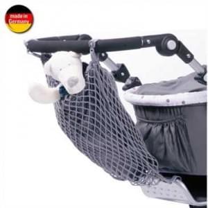 Universal Kinderwagen-Einkaufsnetz mit Innenfutter - Schwarz