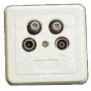 SAT Durchgangsdose 4-fach, 5dB, 5-2250 Mhz inklusive Abdeckplatte