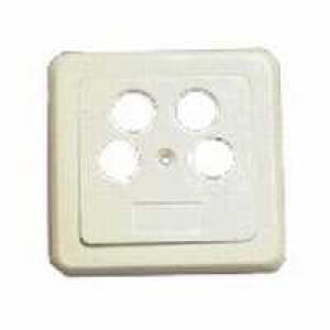 Abdeckung für Antennensteckdose 4fach -  elfenbein
