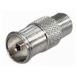 Adapter F-Kupplung > Koaxial Kupplung 9,5 mm - Verbinder, F-Buchse auf IEC-Buchse 9,5 mm