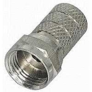 F Aufdrehstecker für Koaxkabel 5 mm 2 Ringe
