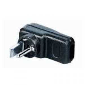 Lautsprecher-Stecker, lötbar DIN 41529 für Autoradio, Winkelausführung