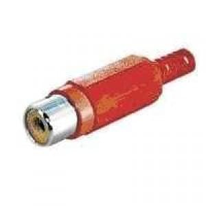 Cinchkupplung RCA-Kupplung Kunststoffausführung- rot