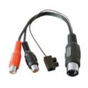 Audio-Adapter Diodenstecker - DIN-Stecker 5-polig > 2 Cinch-Kupplung (nur für Aufnahme) - 0,20 m