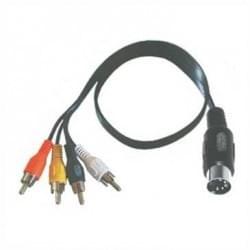 Audio Adapter - Verbindungskabel - DIN Stecker 5-pol. > 4 Cinchstecker - 1,5 m - schwarz