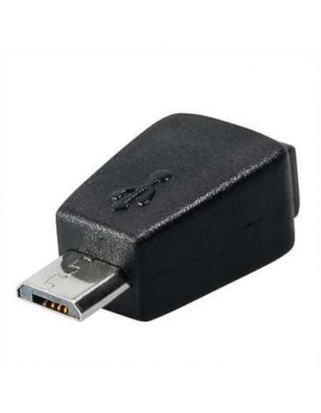 Micro USB Adapter - Micro USB B Stecker auf Mini USB 5Pin Buchse - Farbe: Schwarz