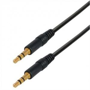 Audiokabel Stereo 3,5mm Klinkenstecker 3 pol. > 3,5mm Klinkenstecker 3 pol. - 0,3 m - Schwarz