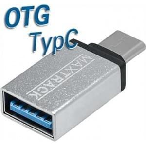 USB OTG Kompaktadapter - USB Typ C Stecker auf USB 3.0 A Buchse - silber