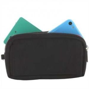 Horizontal Tasche mit 2 Reißverschlüssen, 1 Klettverschlussfach - Gürtelschlaufe - Größe 3XL