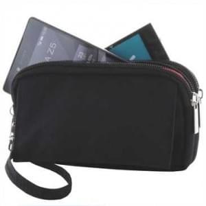 Horizontal Tasche mit 2 Reißverschlüssen, 1 Klettverschlussfach - Gürtelschlaufe - Größe 4XL