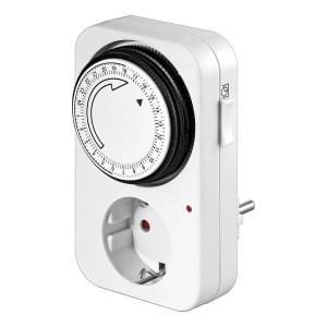 goobay Analoge Zeitschaltuhr für Steuerung von elektronischen Geräten