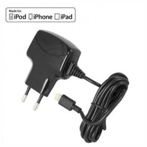 MFI Netzeil mit Lightning Anschluß 100-240V 5V 2,1A für Apple Geräte  - Schwarz