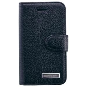 COMMANDER Premium Tasche BOOK CASE ELITE für iPhone 4 / 4S - Leather Black