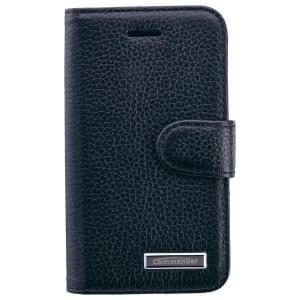 COMMANDER Premium Handytasche BOOK CASE ELITE für iPhone 4 / 4S - Leather Black