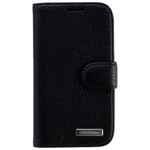 COMMANDER Premium Handytasche BOOK CASE ELITE für Samsung Galaxy S3 - Leather Black