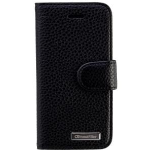 COMMANDER Premium Handytasche BOOK CASE ELITE für Apple iPhone 5 - Leather Black