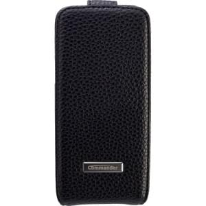 COMMANDER Premium Handytasche DeLuxe für Apple iPhone 5 - Leather Black