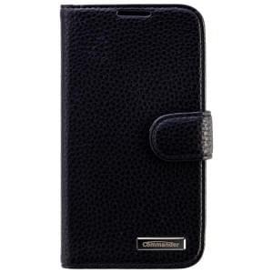 COMMANDER Premium Handytasche BOOK CASE ELITE für Samsung Galaxy S4 - Leather Black
