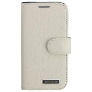 COMMANDER Premium Tasche BOOK CASE ELITE für Samsung Galaxy S4 Mini - Leather White